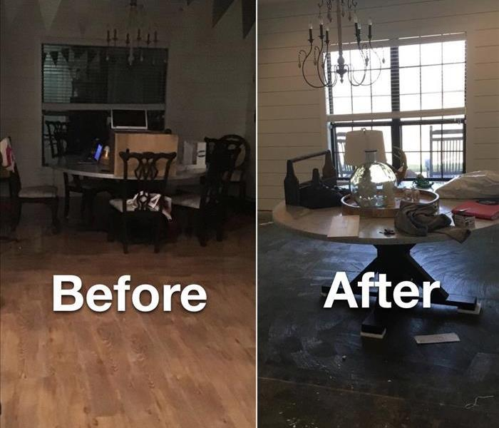 Before & After of Water damage in Grandview home