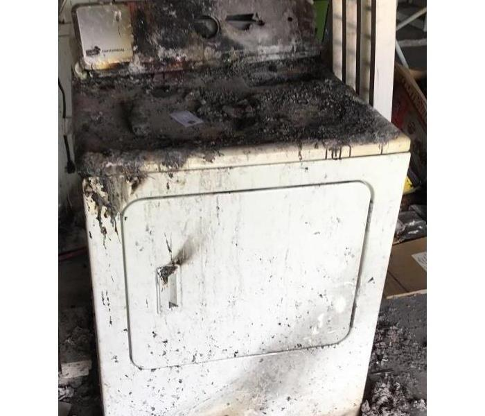 Clothes dryer caused a house fire