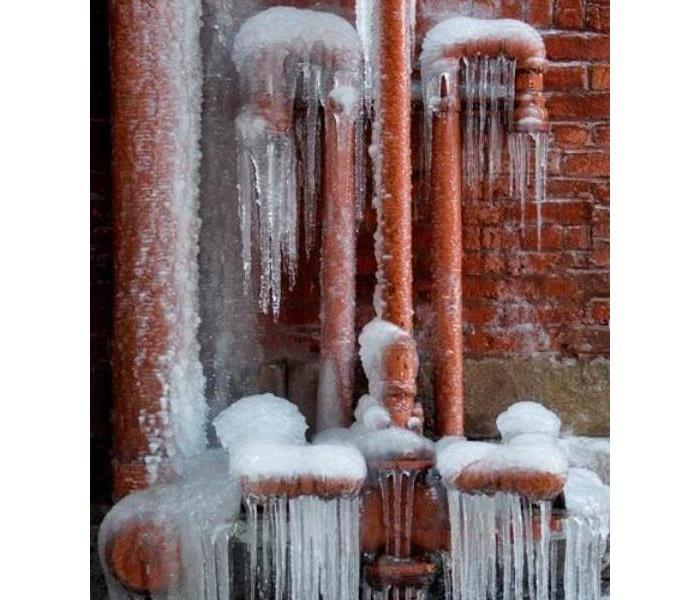 Winter storm have frozen over the outside pipes